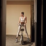 Things got a little provocative with a Spin bike during a photo shoot with Miley Cyrus. Source: Instagram user mileycyrus