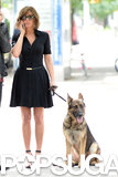 Jennifer Aniston's second outfit on July 31 was a short black dress.