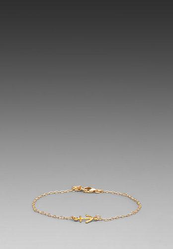gorjana Anchor Charm Bracelet