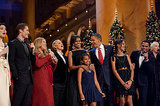 President Obama sang Christmas carols with Ellen DeGeneres, Mariah Carey, and Glee's Matthew Morrison in Washington DC in December 2010. Source: Flickr user The White House