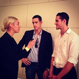 Here's Alison chatting to Zac and Jordan Stenmark — two of the most charming men in Australia — ahead of the David Jones Spring Summer Fashion Launch during the week.