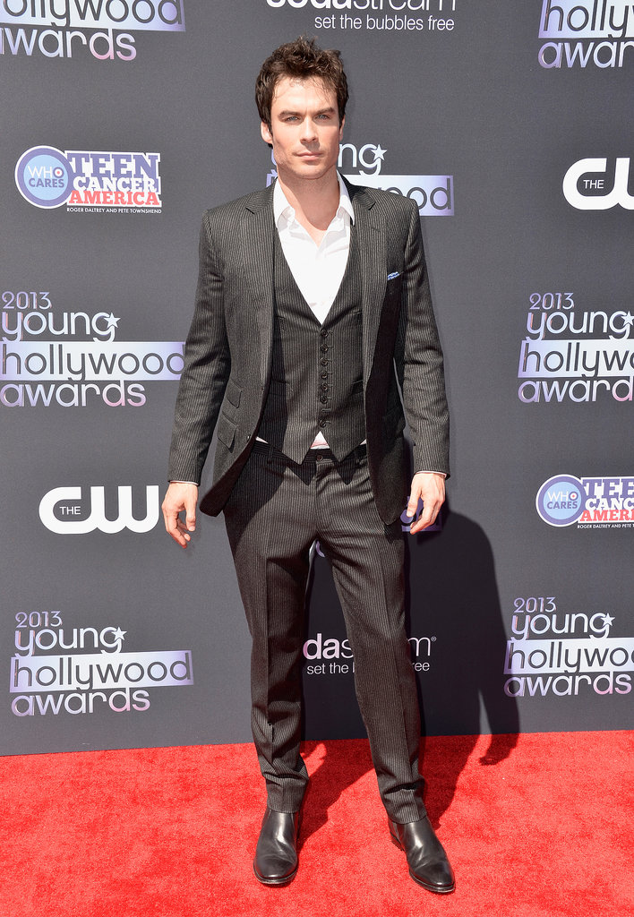The Vampire Diaries star Ian Somerhalder hit the red carpet at the Young Hollywood Awards.