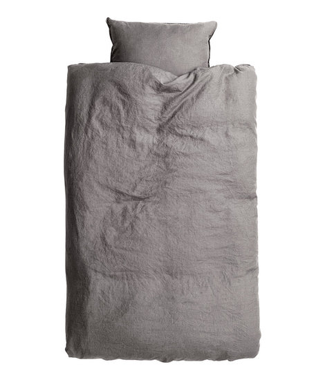 This washed linen duvet cover ($60) only looks expensive.