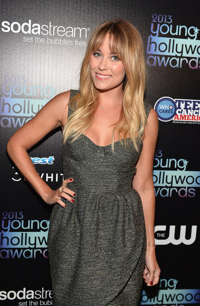 Lauren Conrad struck a pose backstage at the Young Hollywood Awards.