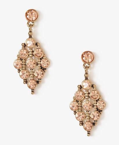FOREVER 21 Rhinestoned Tribal Style Earrings