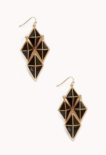 FOREVER 21 Geo Chandelier Earrings