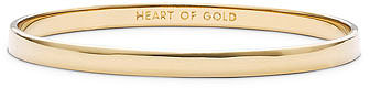 kate spade new york 'idiom - heart of gold' ultra thin bangle Gold