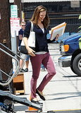 Jennifer Garner Loses Her Baby Bump on Set