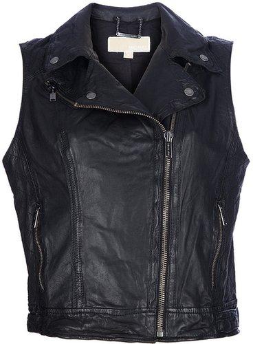 Michael Michael Kors leather biker gilet