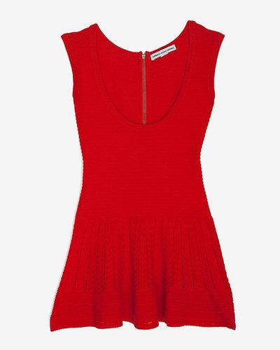 Autumn Cashmere Exclusive Zipper Back Sleeveless Knit Peplum Top