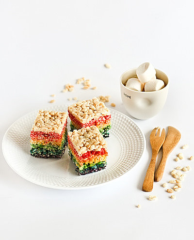 Rainbow Rice Krispies Treats
