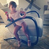 Arabella Kushner struck a pose in her ballet gear for mama Ivanka Trump. Source: Instagram user ivankatrump