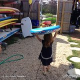 Harper Smith was ready to take on the waves in the Hamptons. Source: Instagram user tathiessen