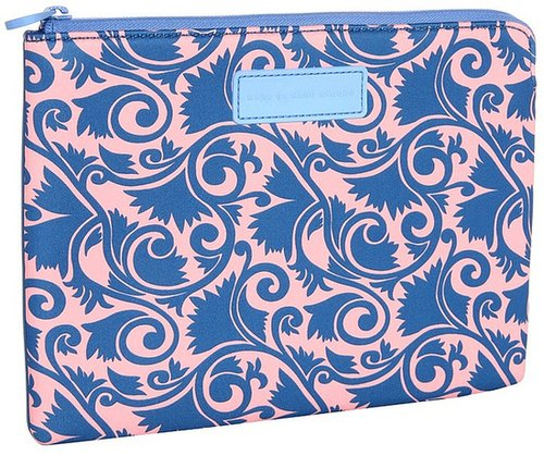 Marc by Marc Jacobs - Tootsie Flower Neoprene Tablet Zip Case (Apricot Rose Multi) - Bags and Luggage