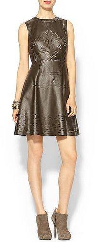 Ark & Co. Vegan Leather Cutout Dress