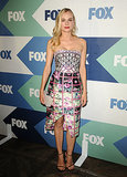 Diane Kruger was print perfect in her Mary Katrantzou design, Edie Parker clutch, and Stuart Weitzman sandals.