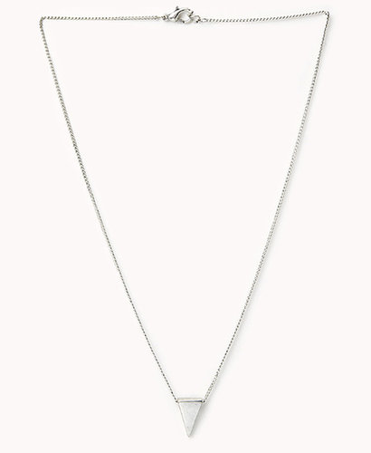 FOREVER 21 Triangle Charm Necklace