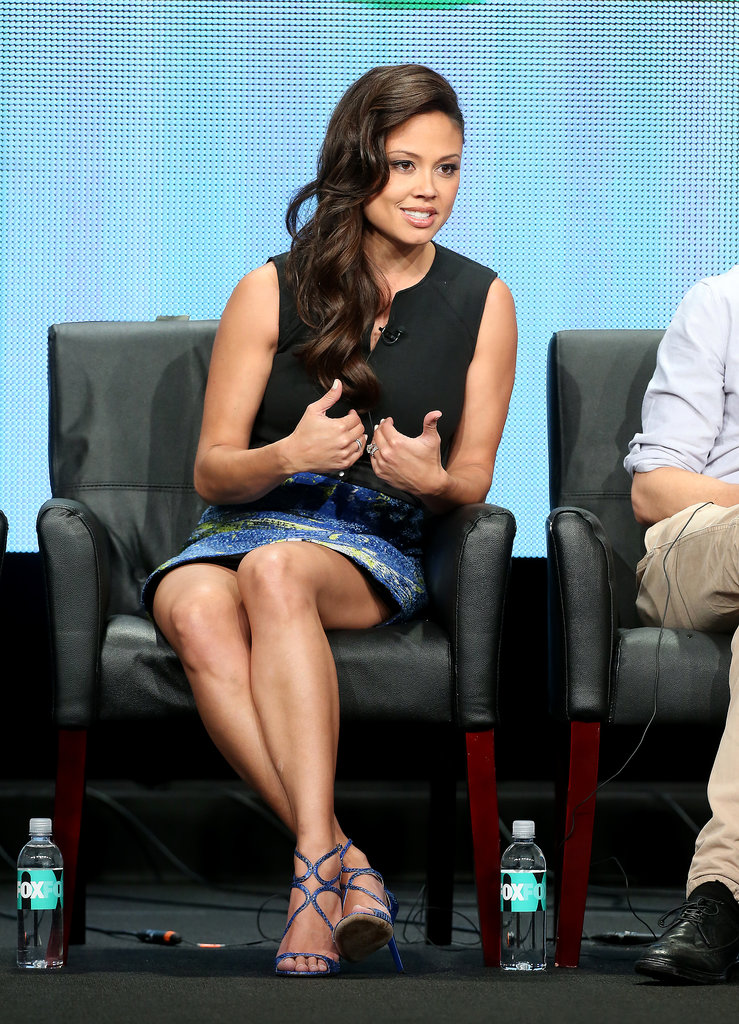 Vanessa Lachey took the stage to talk about the show Dads.