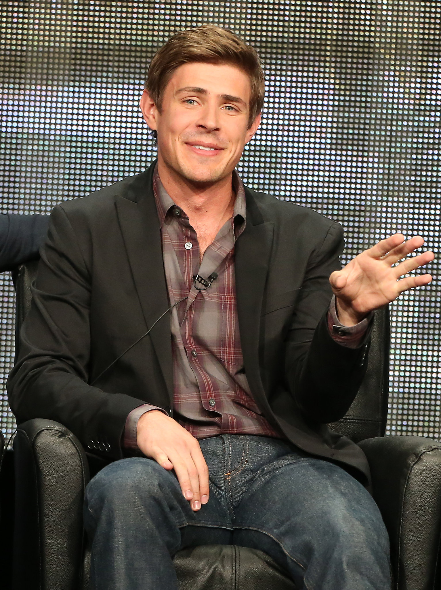 Chris Lowell turned up at the Summer TCA Tour to talk about the new show, Enlisted.