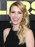 Emma Roberts was all smiles at the We're the Millers premiere. She wore her long, blonde extensions in loose curls swept over her shoulder.