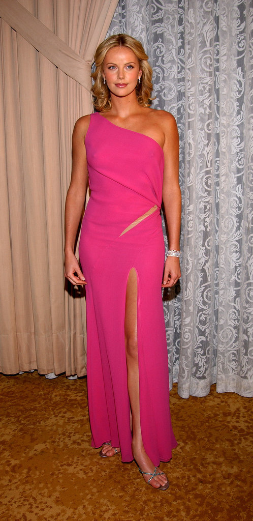 Charlize Theron wore a skin-baring pink number to the Scientific and Technical Awards in March 2002.