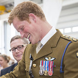 Prince Harry Gets a Drawing From a Child