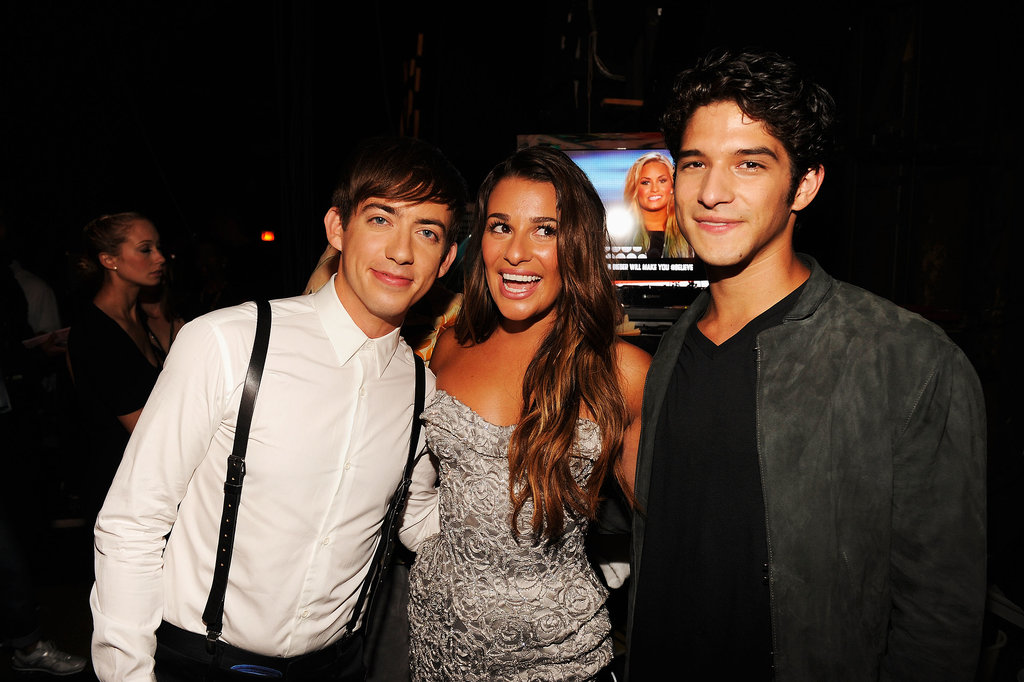 Lea Michele, Kevin McHale, and Tyler Posey chatted backstage at the 2012 Teen Choice Awards.