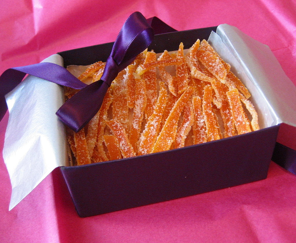 Slivers of candied citrus peel make for a sweet homemade gift, and are ...