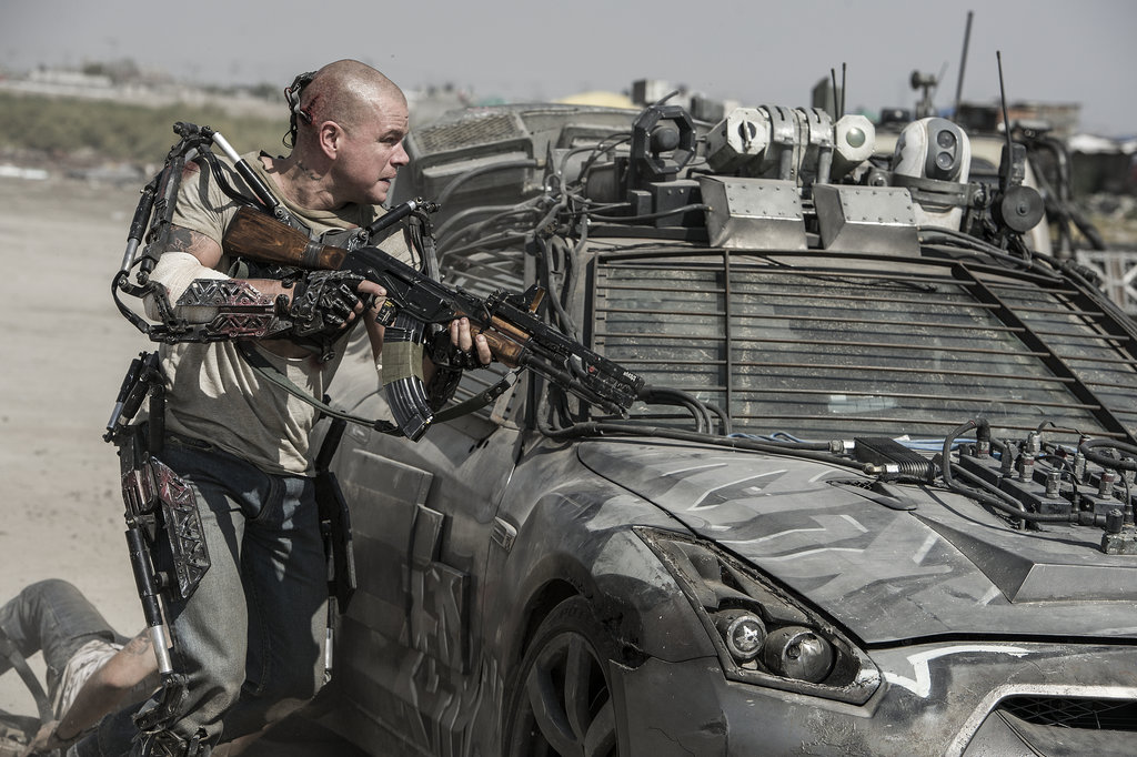 Matt Damon in Elysium.