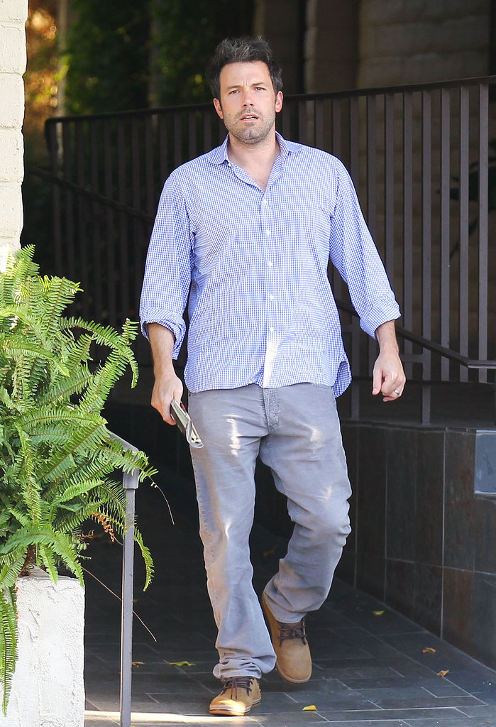 Ben Affleck stepped out for errands with his wife, Jennifer Garner, in LA.