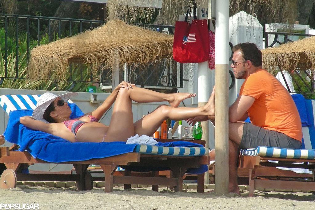 Bikini-clad Eva Longoria and Ernesto Arguello relaxed together in Spain.