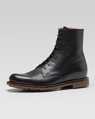 Gucci Daumier Lace-Up Military Boot