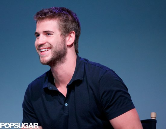 Liam Hemsworth attended a press conference for his new film Paranoia.