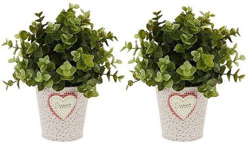 Clayre & Eef 2 PACK Pot de fleur rouge
