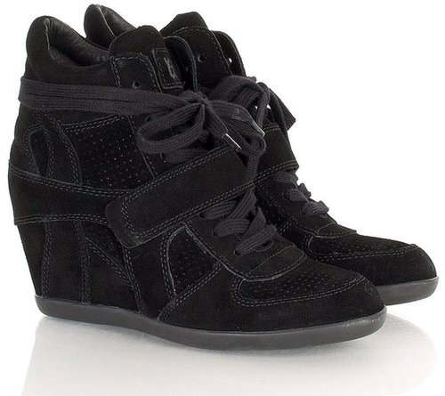 Ash Black Suede Bowie Ash Wedge Trainers