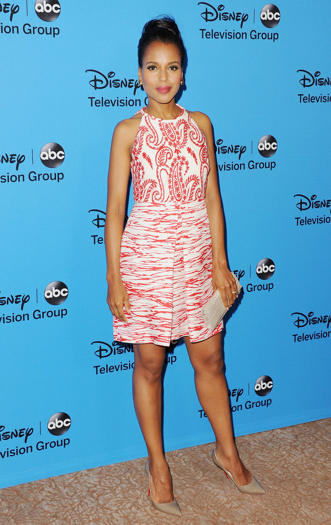 Scandal's Kerry Washington posed for pictures during the Summer TCA Tour in Beverly Hills.