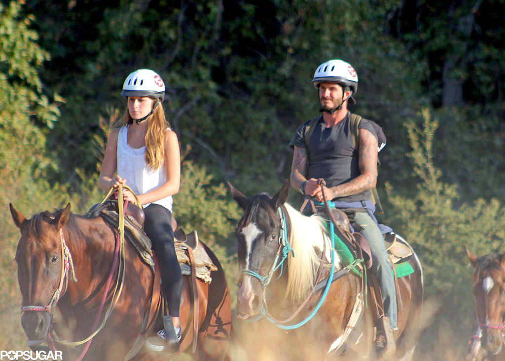 Victoria Beckham Is on a Horse!