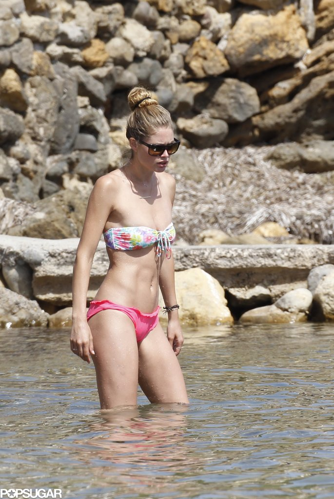 Doutzen Kroes showed off her bikini body in Spain.