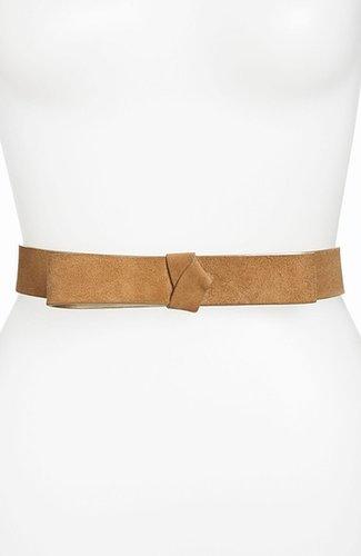 WCM Belts 'Bow' Suede Belt Tan Small