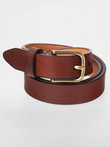 Flat Edge Leather Belt
