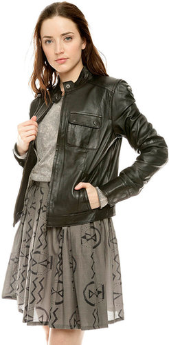 Members Only Basic Leather Jacket
