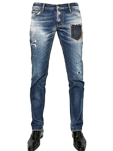 18cm Nonna Patch Slim Fit Denim Jeans