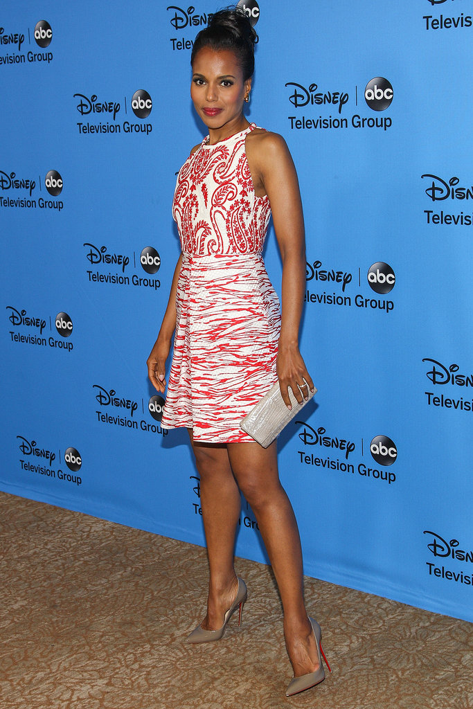 Kerry Washington wasn't to be missed in a bright print at the Disney and ABC Summer Tour.