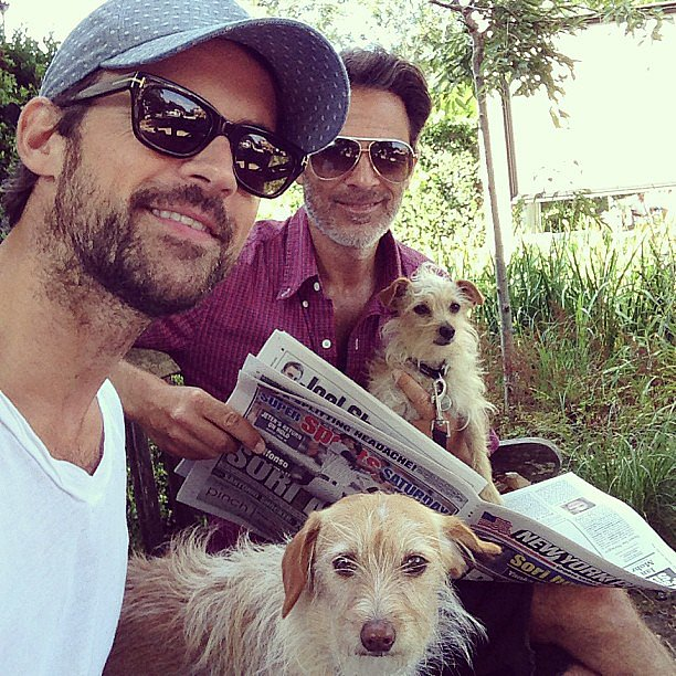 Brad Goreski spent a sweet morning with his boyfriend, Gary Janetti, and their two pups. Source: Instagram user mrbradgoreski