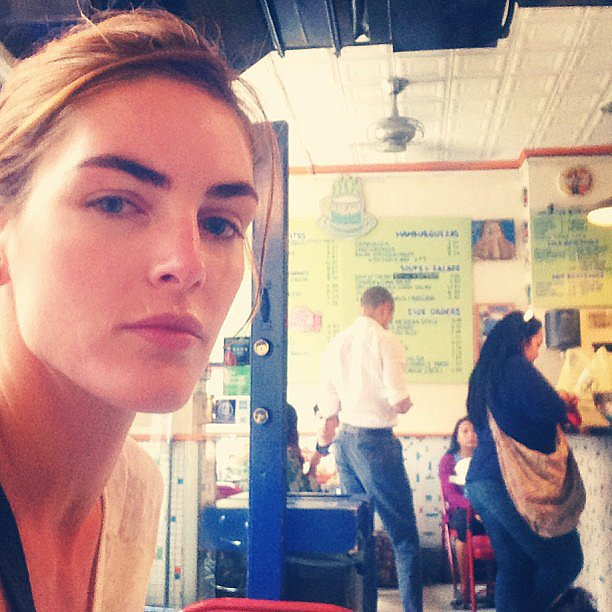 "Hilary Rhoda shared a relaxed snap after having ""the best massage"" of her life."" Source: Instagram user hilaryhrhoda"