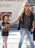 Heidi Klum and her son, Johan, went to the movies in LA.