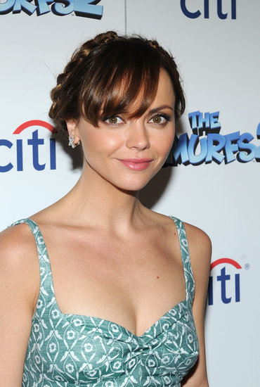 Christina Ricci twisted her milkmaid braids into an updo for the premiere of Smurfs 2.