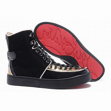 black gold louboutin alfie flat high top mens sneakers