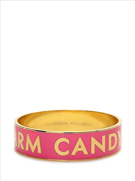 Kate Spade nailed it on the head — cotton candy pink arm candy ($39, originally $88) for your wrist!