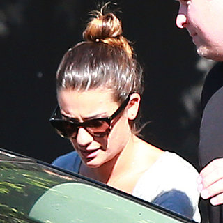 Lea Michele Wearing Cory Necklace at Record Studio | Photos